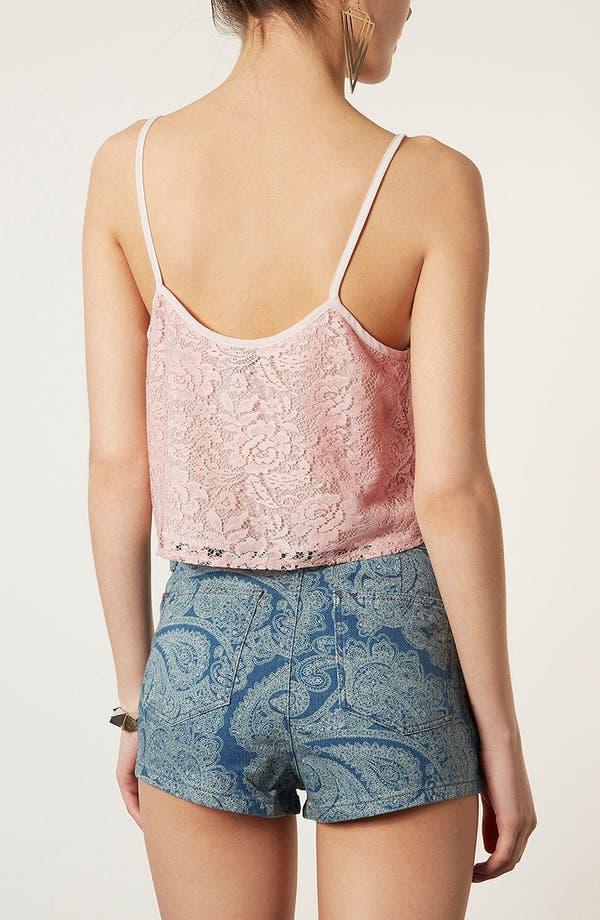 Alternate Image 2  - Topshop Crop Lace Camisole