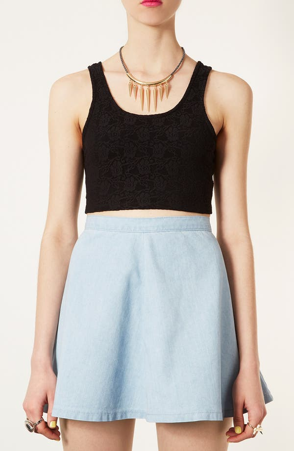 Main Image - Topshop 'Super' Lace Crop Tank