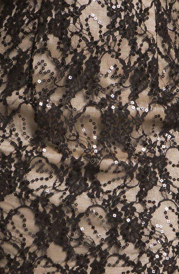 Alternate Image 3  - Jessica McClintock Strapless Lace Minidress