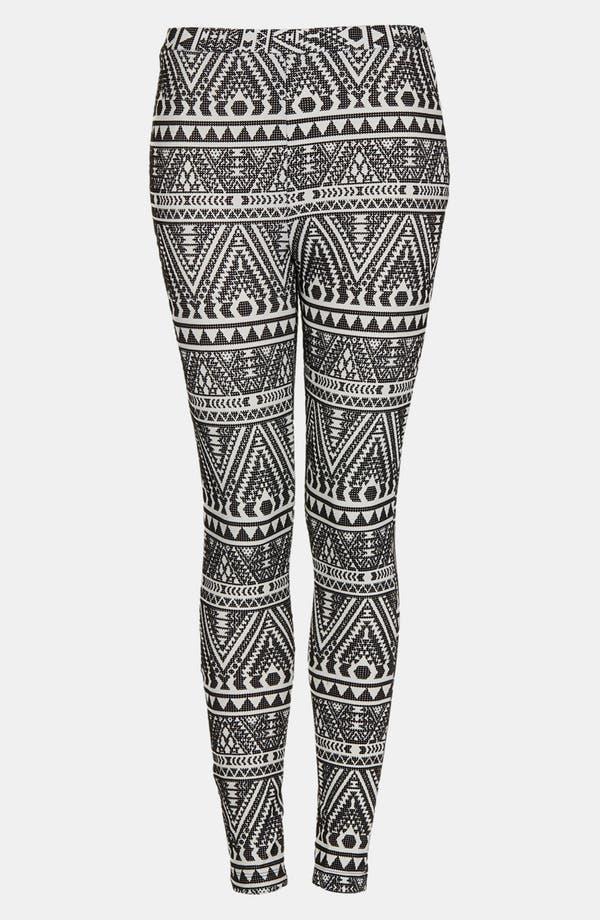 Alternate Image 1 Selected - Topshop Velvet Tribal Print Skinny Pants