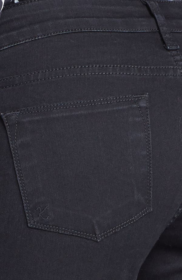 Alternate Image 3  - KUT from the Kloth Farrah' Mini Bootcut Jeans (Black)