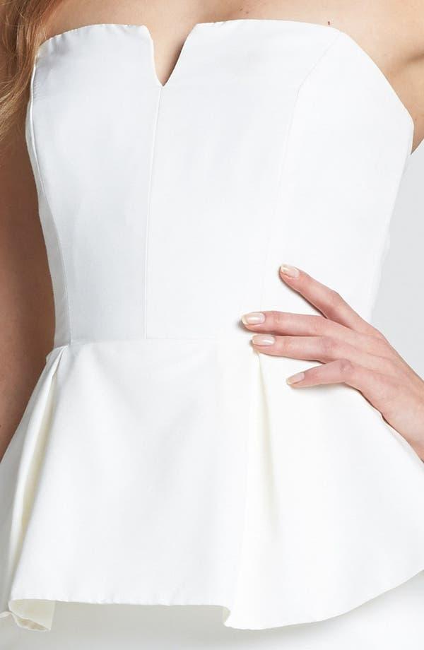 Alternate Image 3  - Nicole Miller Strapless Peplum Gown