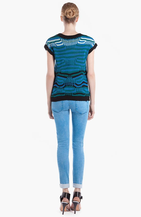 Alternate Image 2  - sandro 'Soufflé' Mixed Stripe Sweater