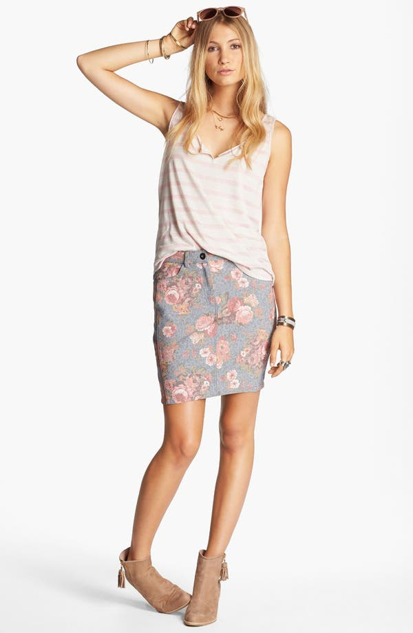 Alternate Image 2  - Lucca Couture Floral Skirt