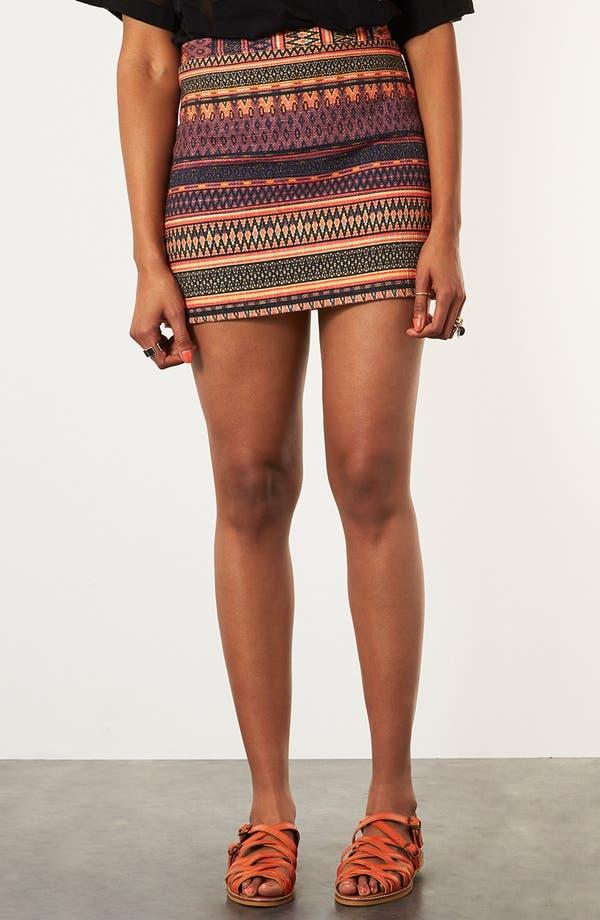 Main Image - Topshop 'Safari' Ikat A-Line Skirt