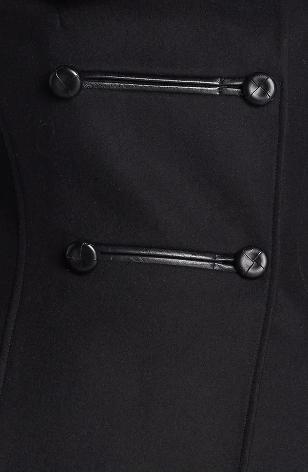 Alternate Image 3  - Mackage Leather Trim Double Breasted Coat