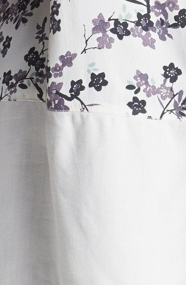 Alternate Image 3  - Evans Sleeveless Print High/Low Tunic (Plus Size)
