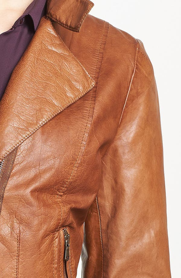 Alternate Image 3  - Marc New York by Andrew Marc Distressed Leather Jacket (Regular & Petite)