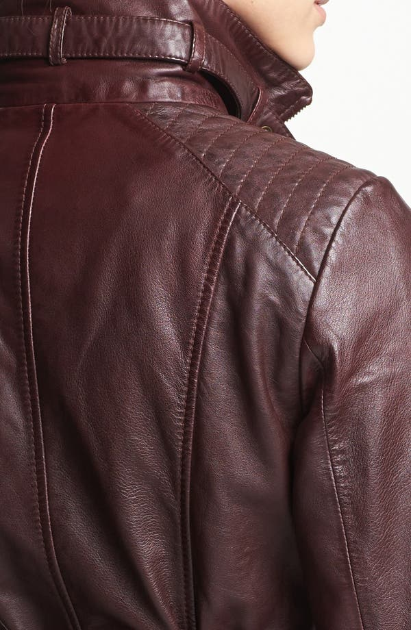 Alternate Image 3  - Marc New York by Andrew Marc Belted Leather Jacket (Regular & Petite)