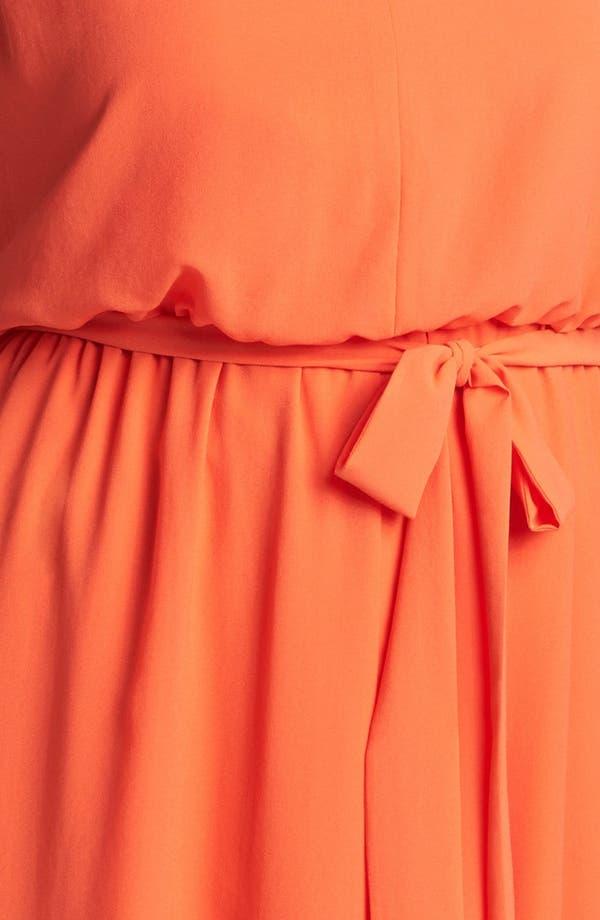 Alternate Image 3  - Jessica Simpson Blouson High/Low Crepe Dress (Plus Size)