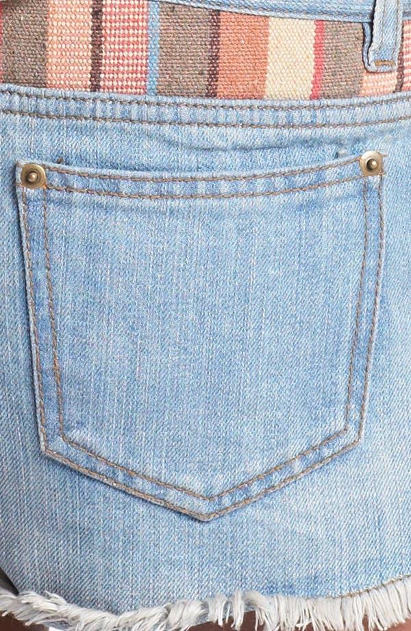 Alternate Image 3  - Blu Pepper Jacquard Denim Shorts (Juniors) (Online Only)