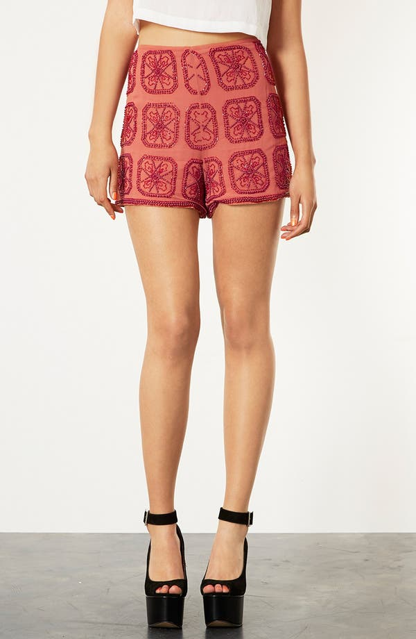 Alternate Image 1 Selected - Topshop Beaded Shorts