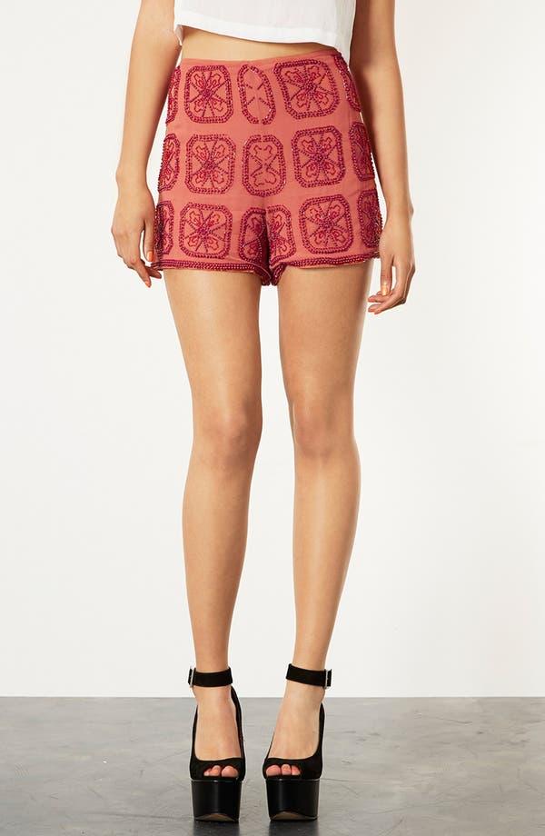 Main Image - Topshop Beaded Shorts
