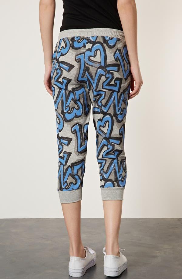 Alternate Image 2  - Topshop 'Graffiti' Crop Jogging Pants
