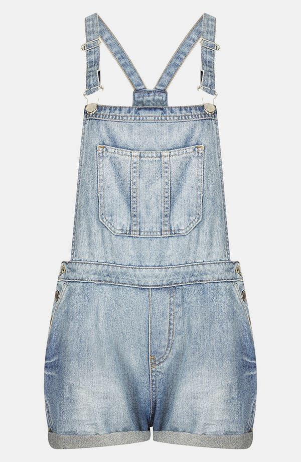 Main Image - Topshop Moto 'Tommy' Vintage Overalls (Petite)