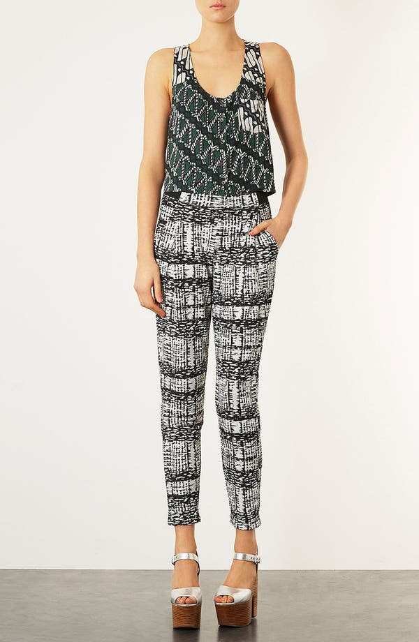 Main Image - Topshop Tapered Jersey Trousers