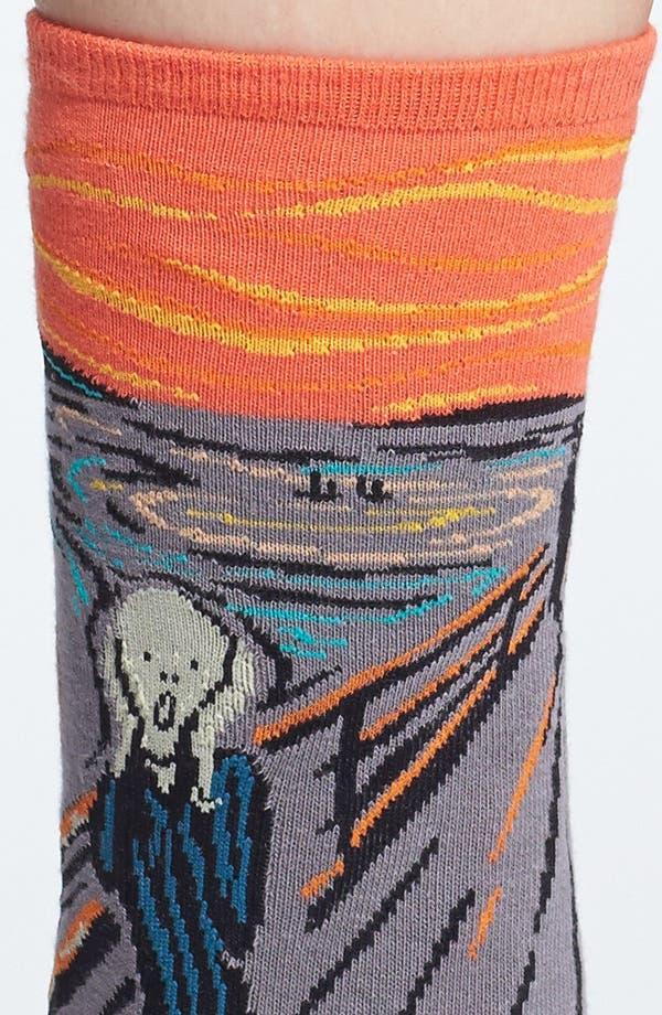 Alternate Image 2  - Hot Sox 'Scream' Socks