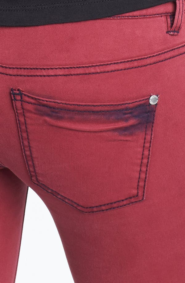 Alternate Image 3  - Fire Overdyed Skinny Jeans (Pinot) (Juniors)