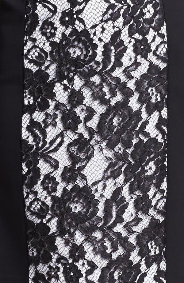 Alternate Image 3  - Lafayette 148 New York Lace Front Punto Milano Dress