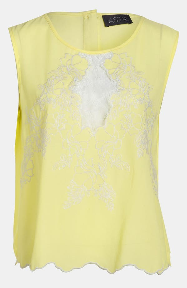 Alternate Image 1 Selected - ASTR Embroidery & Lace Tank