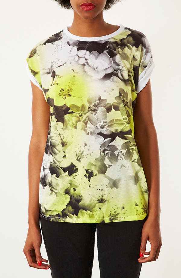 Alternate Image 1 Selected - Topshop Floral Photo Tee