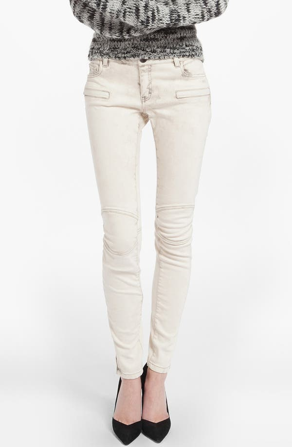 Alternate Image 1 Selected - maje 'Davari' Colored Skinny Jeans (Ecru)