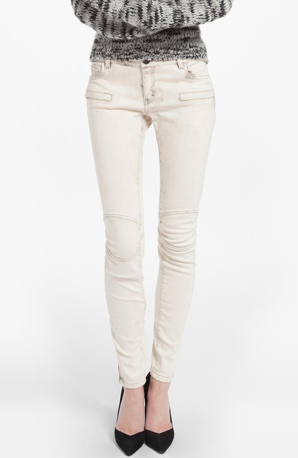 Main Image - maje 'Davari' Colored Skinny Jeans (Ecru)
