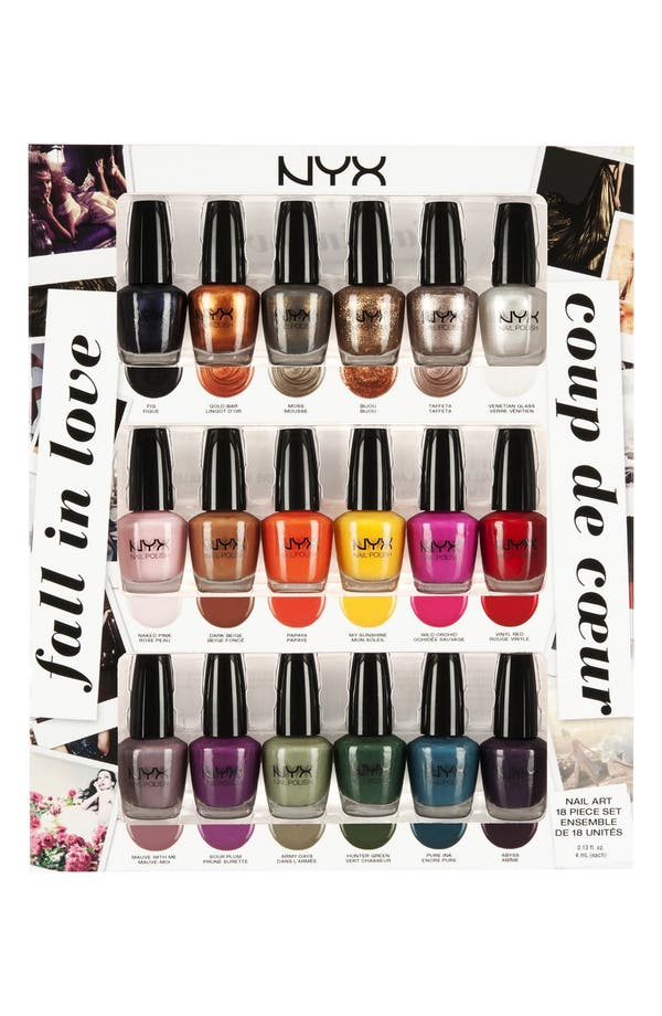 Alternate Image 1 Selected - NYX 'Fall in Love' Nail Art Collection