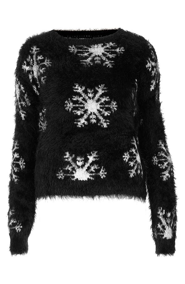 Alternate Image 3  - Topshop Textured Snowflake Sweater (Petite)