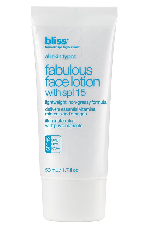 Main Image - bliss® 'Fabulous' Face Lotion SPF 15
