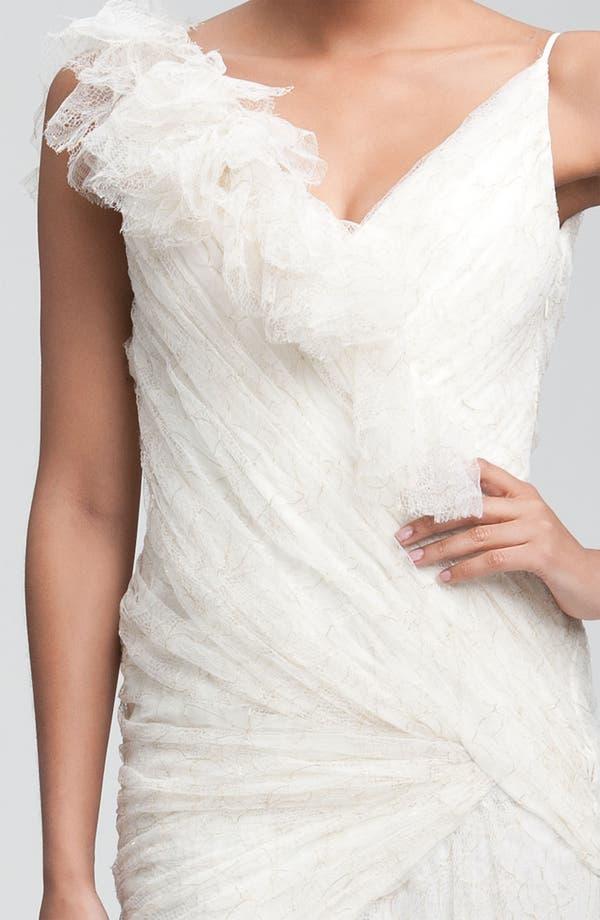 Alternate Image 2  - Carmen Marc Valvo Drape Bodice Tulle Gown