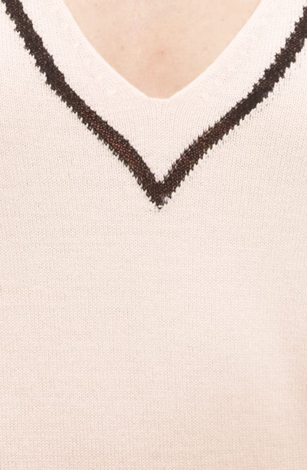 Alternate Image 2  - Piazza Sempione Contrast Trim Knit Top