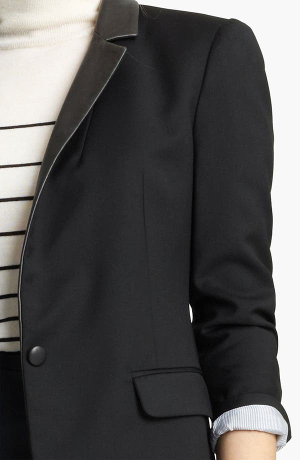 Alternate Image 3  - Band of Outsiders Leather Trim Blazer