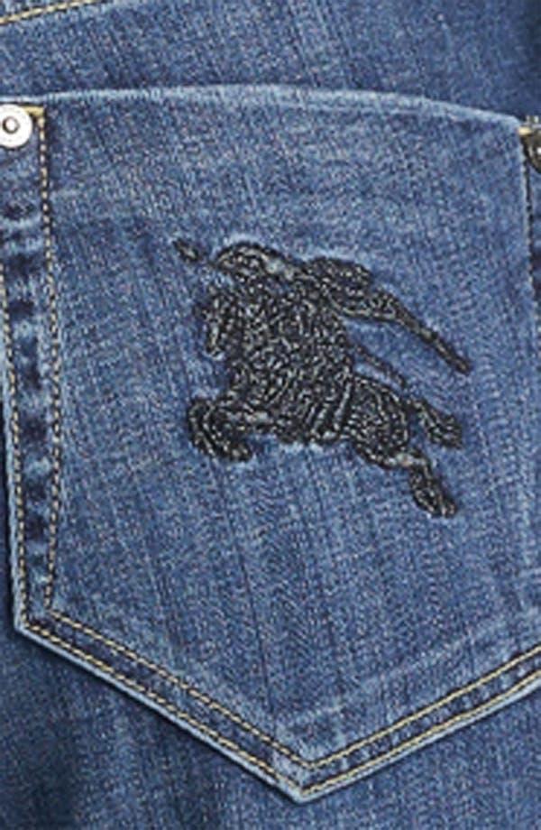 Alternate Image 3  - Burberry Brit Straight Leg Jeans