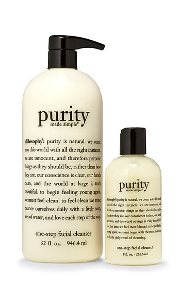 Main Image - philosophy jumbo 'purity made simple one step' facial cleanser duo (Nordstrom Exclusive) ($84 Value)