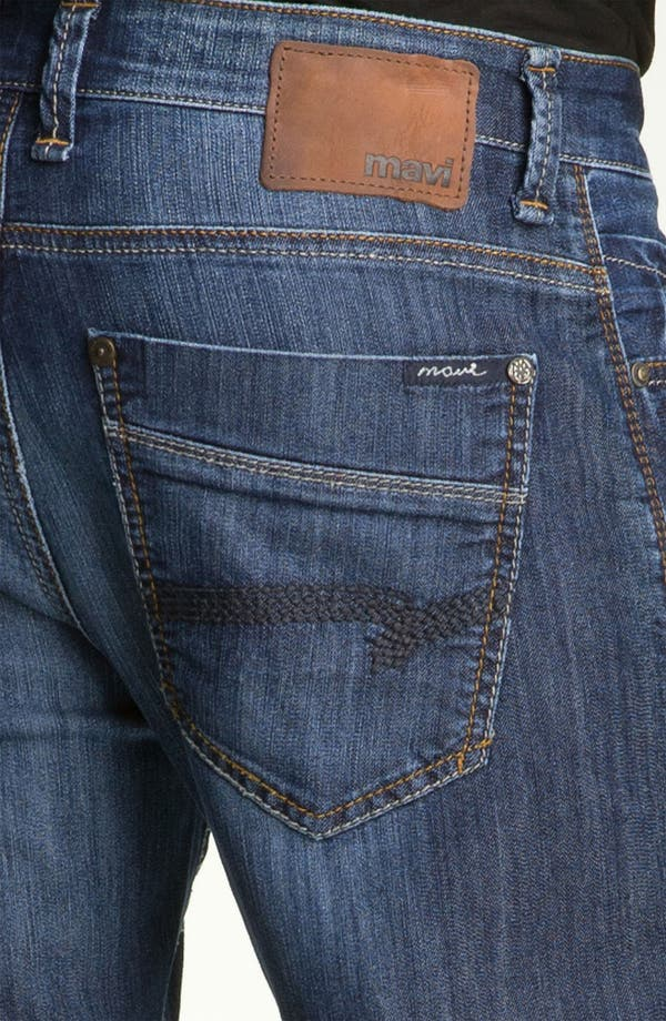 Alternate Image 4  - Mavi Jeans 'Zach' Straight Leg Jeans (Dark Arizona Comfort)