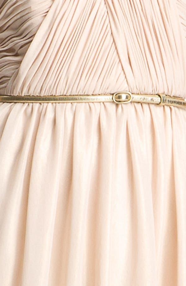 Alternate Image 3  - Donna Morgan Strapless Shimmer Chiffon Dress