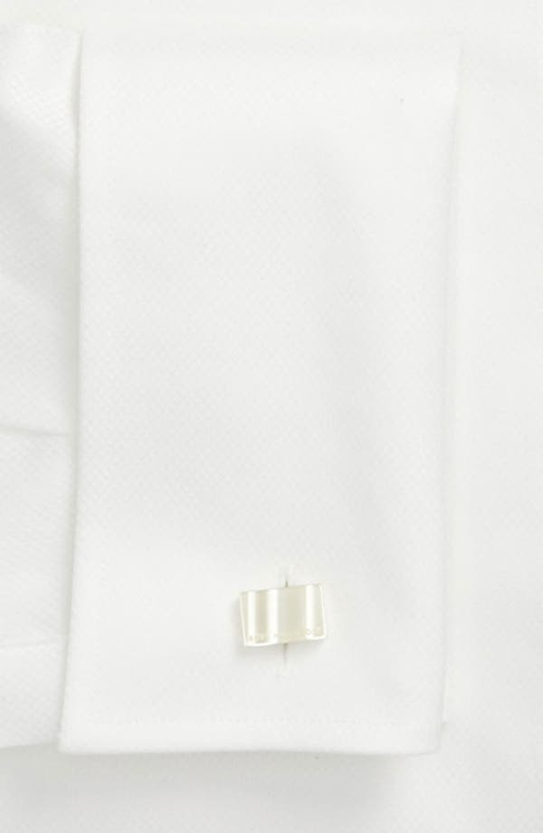 Alternate Image 3  - BOSS Jameson Slim Fit Diamond Weave French Cuff Tuxedo Shirt