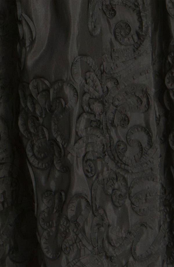 Alternate Image 3  - Patra V-Neck Soutache Mixed Media Gown (Regular & Petite)