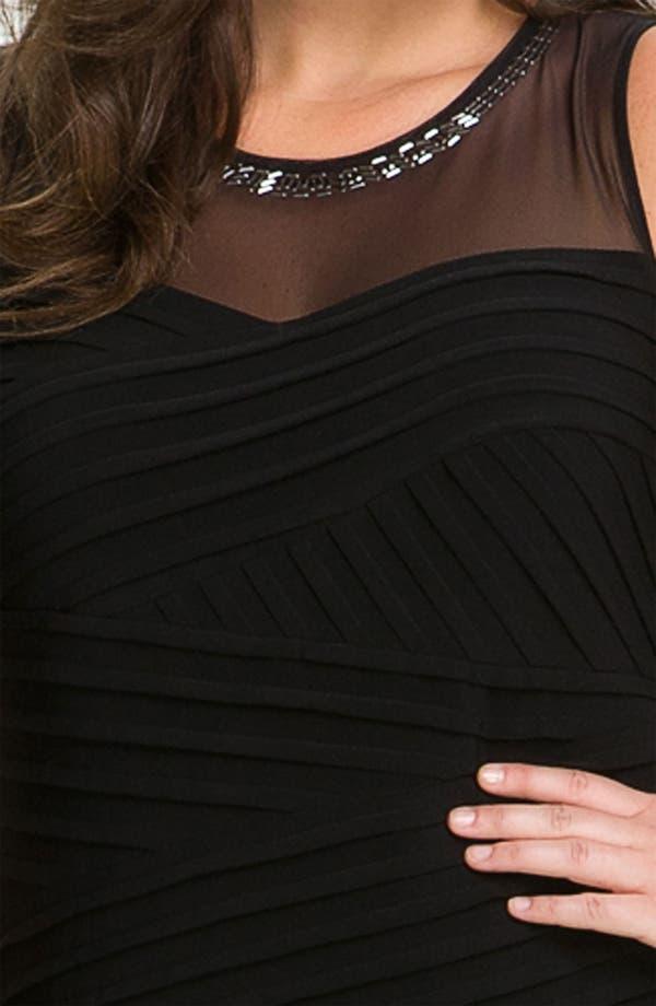 Alternate Image 3  - Calvin Klein Beaded Illusion Matte Jersey Sheath Dress (Plus)