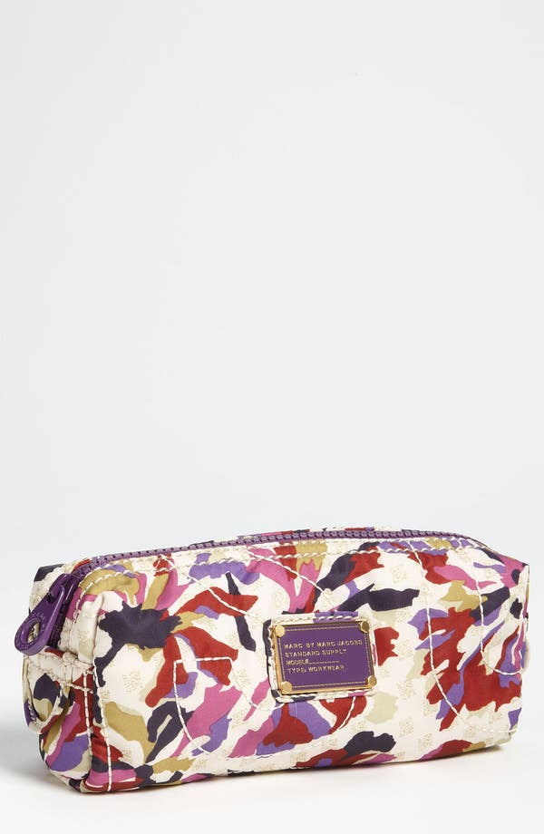 Alternate Image 1 Selected - MARC BY MARC JACOBS 'Pretty Nylon - Sherwood' Narrow Cosmetics Case
