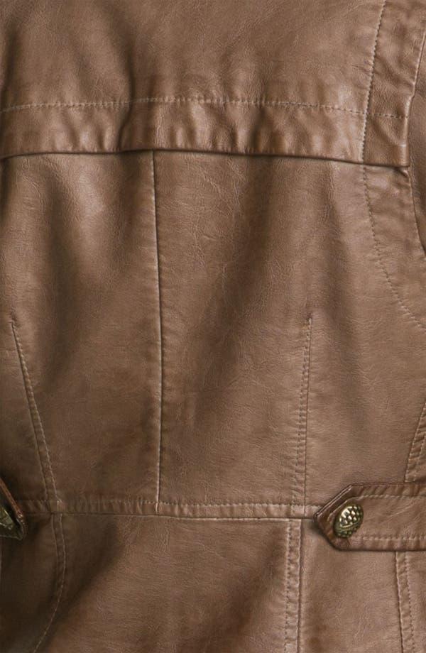Alternate Image 4  - Steve Madden Asymmetrical Faux Leather Jacket