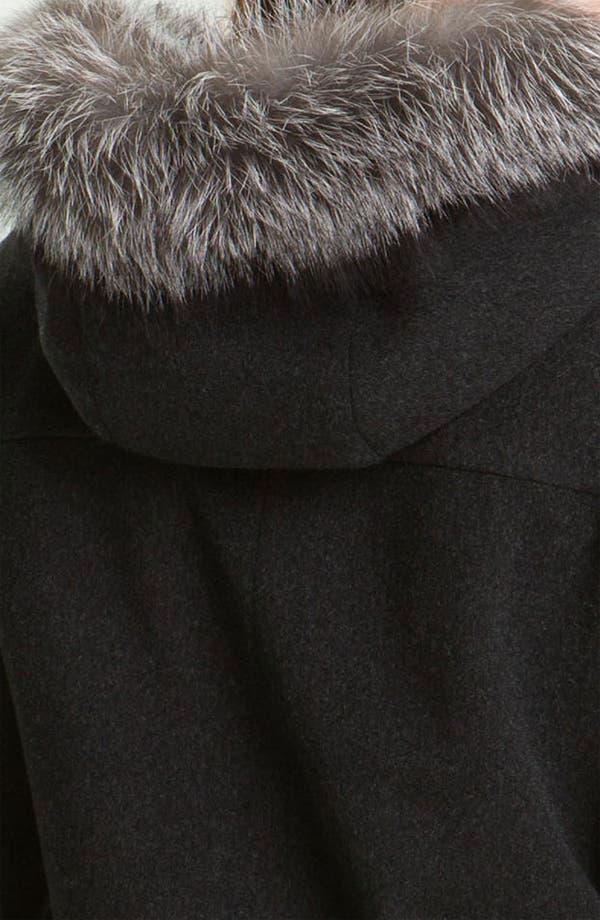 Alternate Image 3  - Fleurette Duffle Coat with Genuine Fox Fur Collar