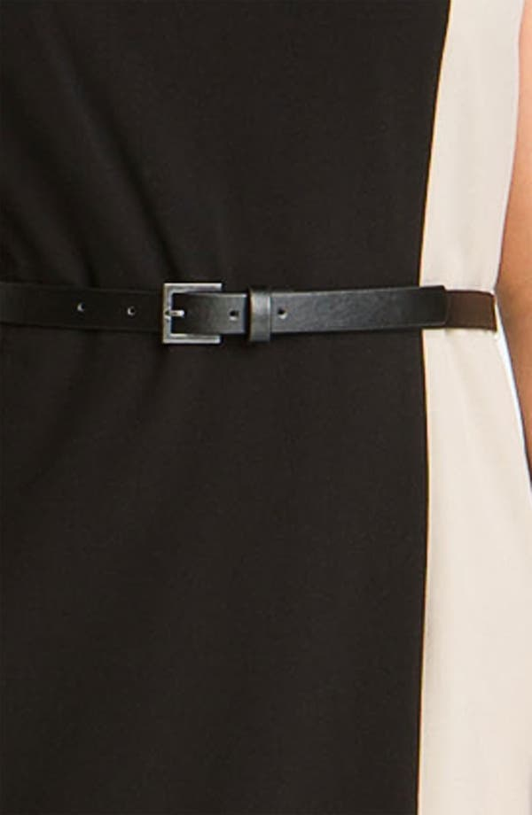 Alternate Image 3  - Calvin Klein Colorblock Belted Sheath Dress (Plus Size)