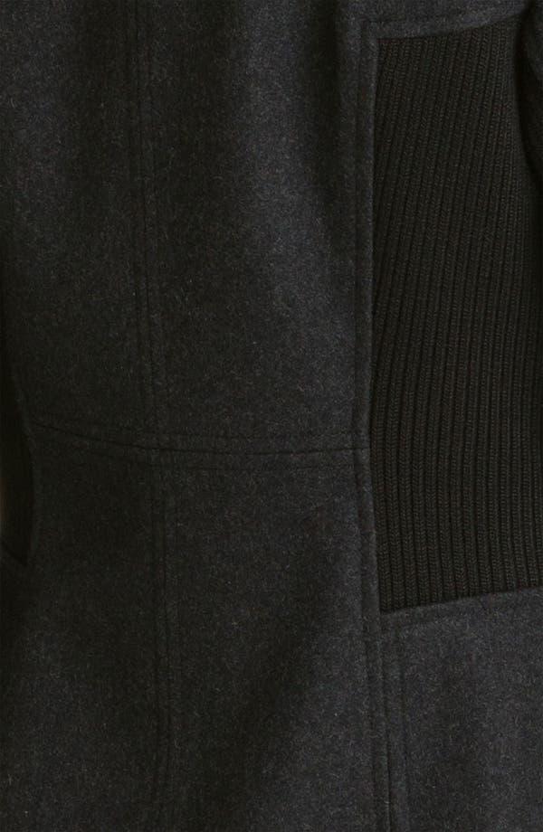 Alternate Image 3  - GUESS Faux Fur & Knit Trim Coat