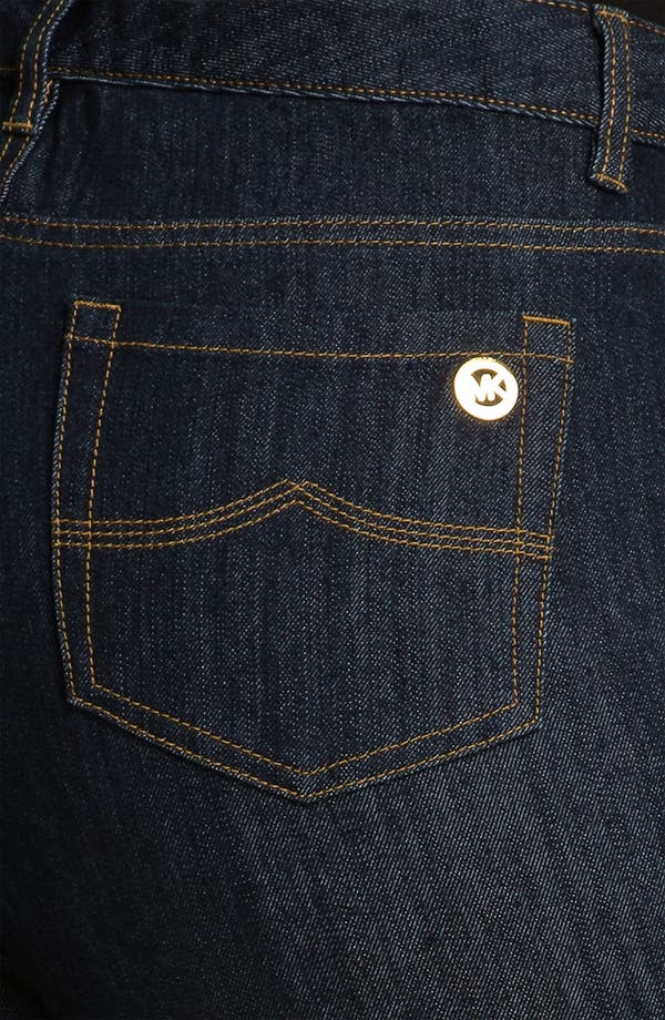 Alternate Image 3  - MICHAEL Michael Kors Dark Wash Skinny Jeans (Plus)