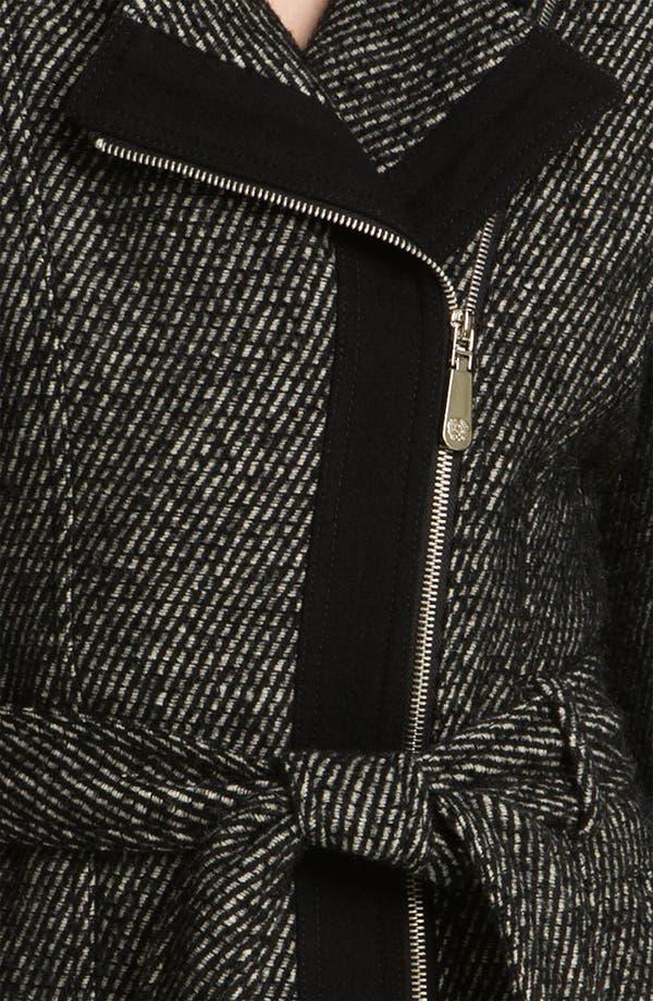 Alternate Image 3  - Vince Camuto Asymmetrical Zip Tweed Trench Coat