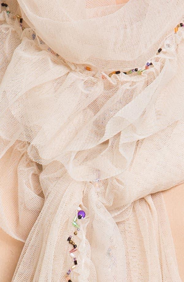 Alternate Image 2  - Betsey Johnson Tulle Wrap