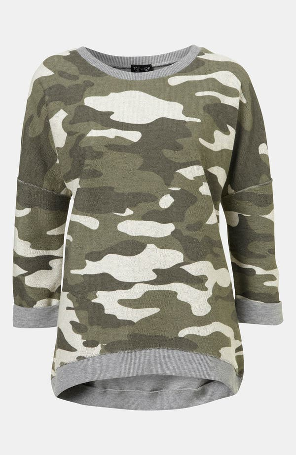 Alternate Image 1 Selected - Topshop Camouflage Sweatshirt