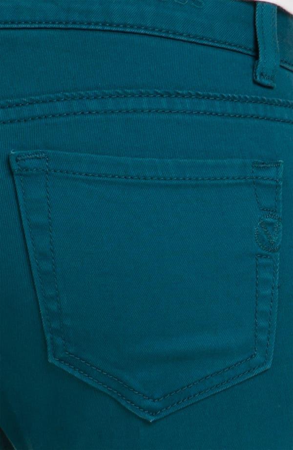Alternate Image 3  - Vigoss Color Skinny Jeans (Teal) (Juniors)